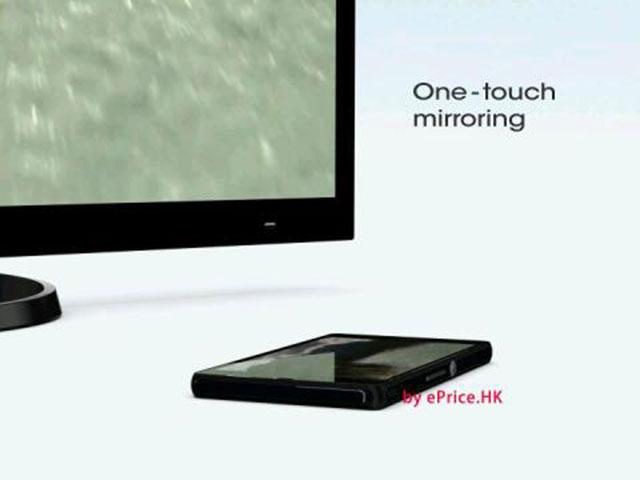 Sony Xperia Z : du mirroring en une tape