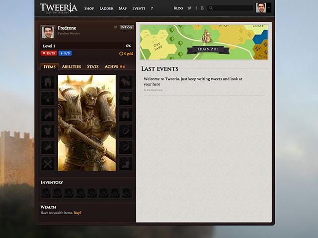 Tweeria, un RPG avec du Twitter dedans