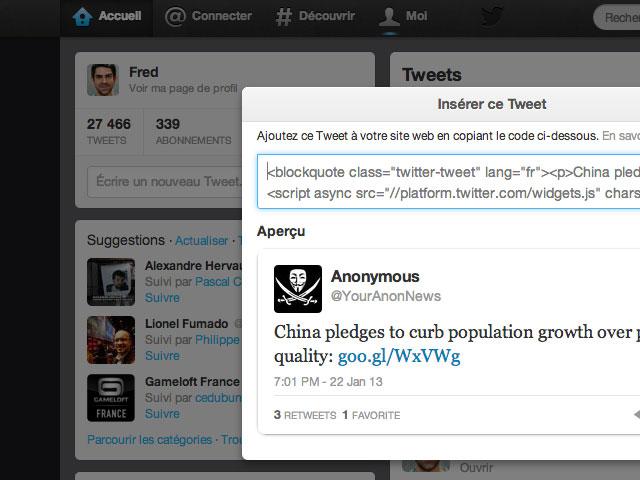 Twitter : quelques améliorations pour les tweets exportés
