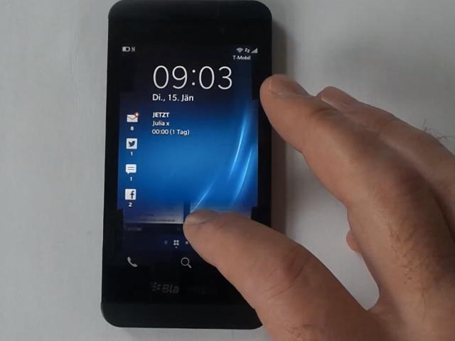 Une nouvelle vidéo de présentation pour le BlackBerry Z10