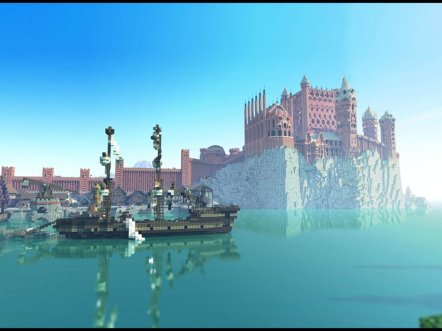 Westeroscraft : Kings Landing vu du port