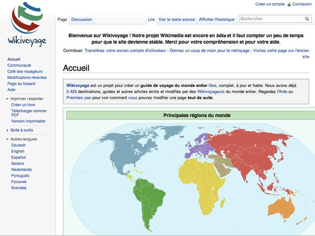 Wikivoyage, le guide de voyage collaboratif de Wikimedia