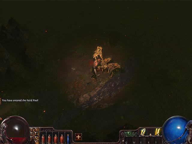 Path of Exile : dans une grotte sombre