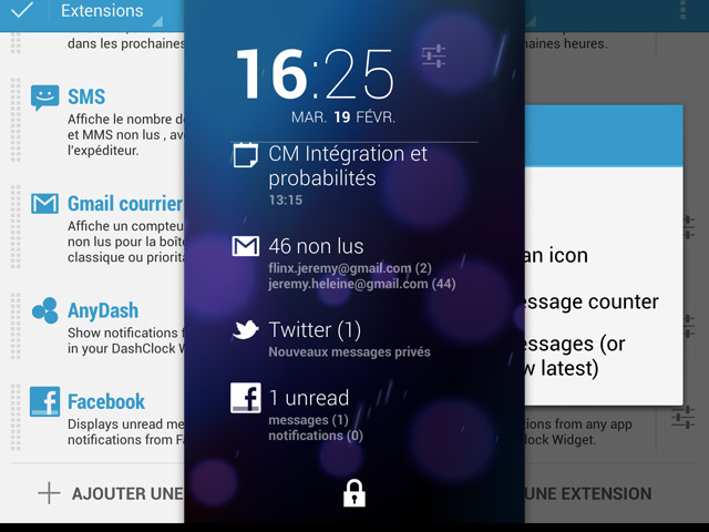DashClock : intégrer les notifications de n'importe quelle application