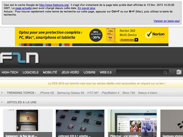 Google : accéder facilement au cache de n'importe quel site