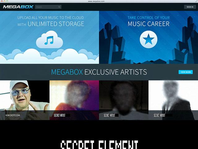 Megabox : une capture pour sa page d'accueil