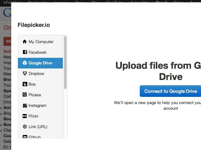 Gmail : envoyer des pièces jointes à partir de Dropbox / Box / Picasa / Instagram / Facebook et ainsi de suite