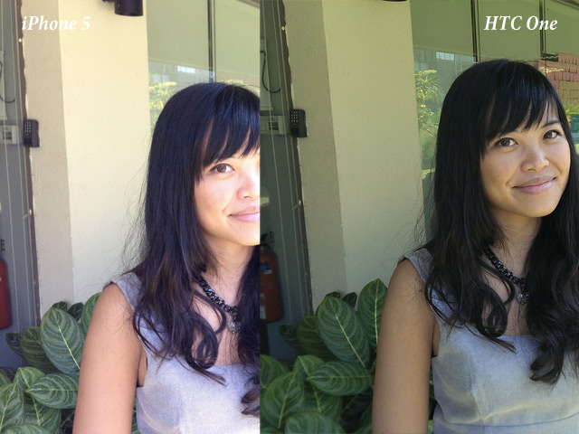 HTC One vs iPhone 5 : un portrait en contre jour