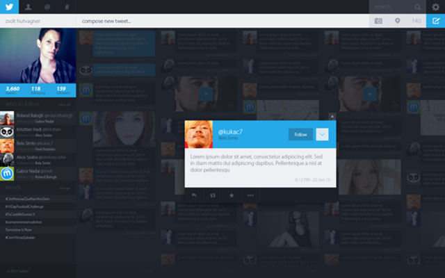 Concept Twitter : l'affichage d'un tweet