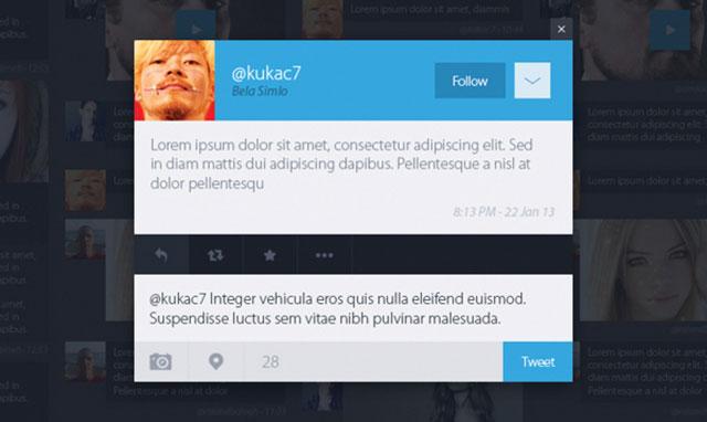 Concept Twitter : les discussions