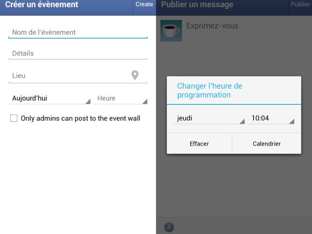 Facebook Pages Manager : programmation de publications et création d'événements