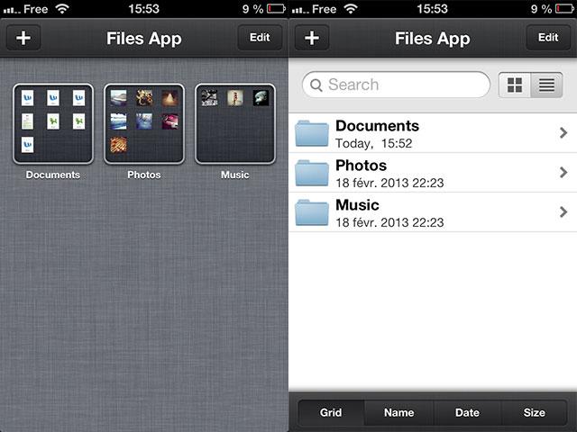 Files App : une application très soignée