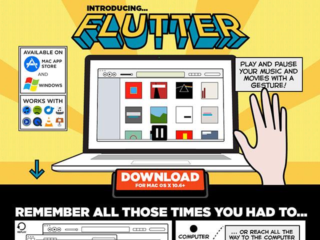 Flutter : contrôler iTunes, Spotify, VLC, QuickTime et bien d'autres avec son corps