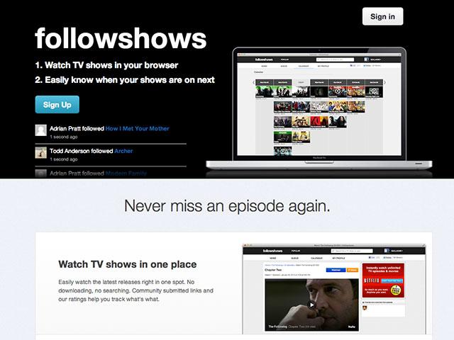 FollowShows, pour suivre et regarder en streaming ses séries préférées