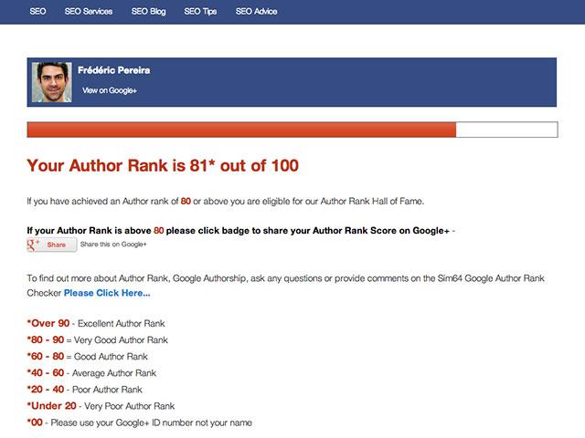 Mesurer facilement votre Google Author Rank