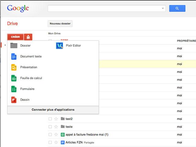Google Drive : une meilleure intégration des applications tierces