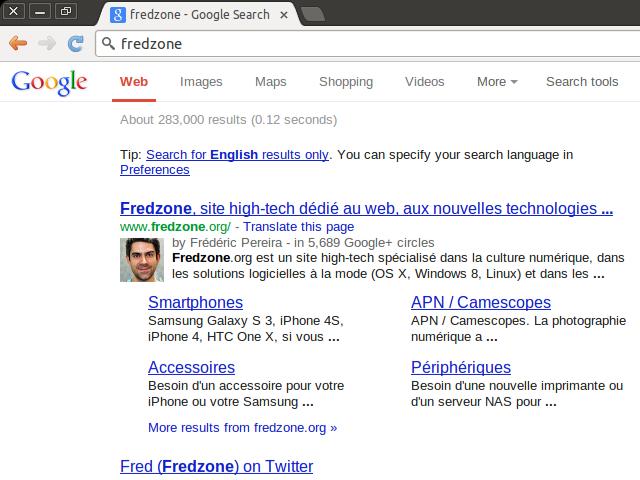 Google sans barre de recherche
