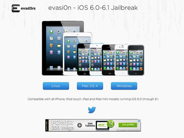 Jailbreak iOS 6.1.1 : evasi0n 1.3 est disponible