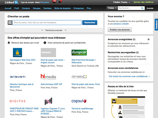 LinkedIn Carrières