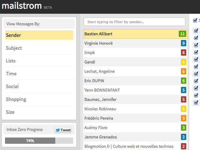 Mailstrom, un outil pour nettoyer facilement vos boites mail