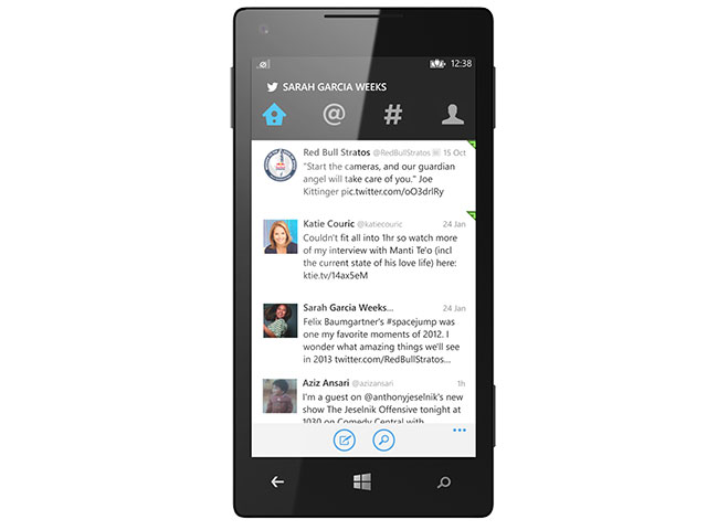 Twitter sur Windows Phone