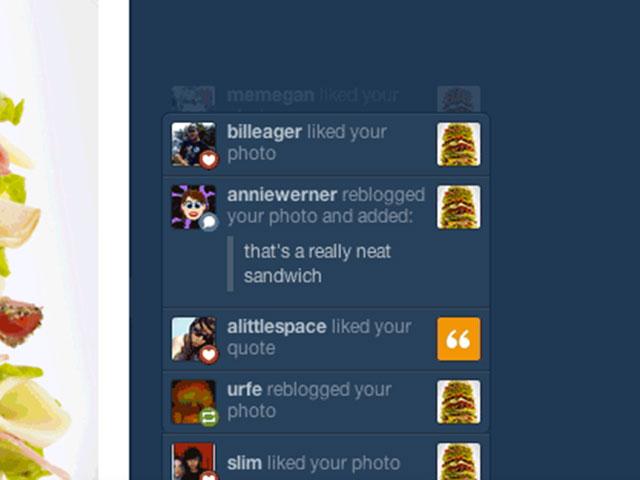 Tumblr : arrivée des notifications en temps réel