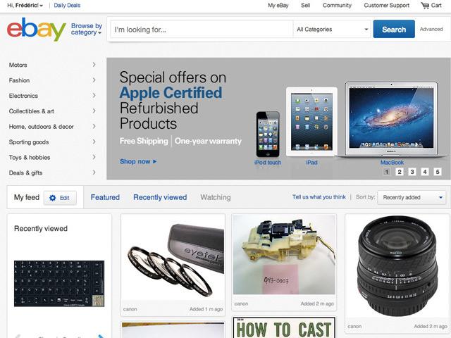 eBay : une nouvelle version pour le portail américain