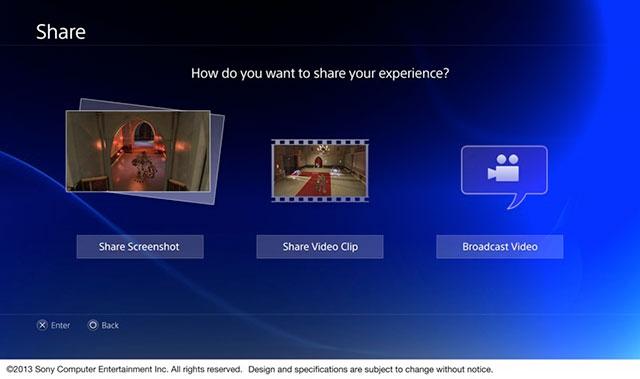 PlayStation 4 : les options de partage