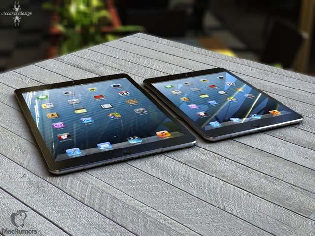 L'iPad 5 posant à côté de l'iPad Mini