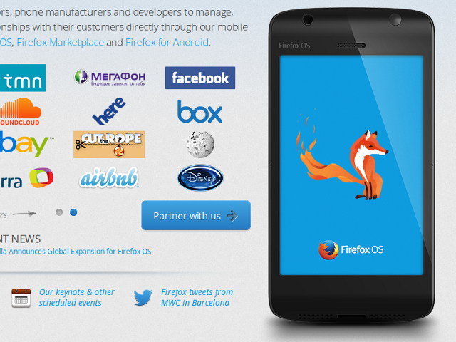 Sony supporte aussi Firefox OS