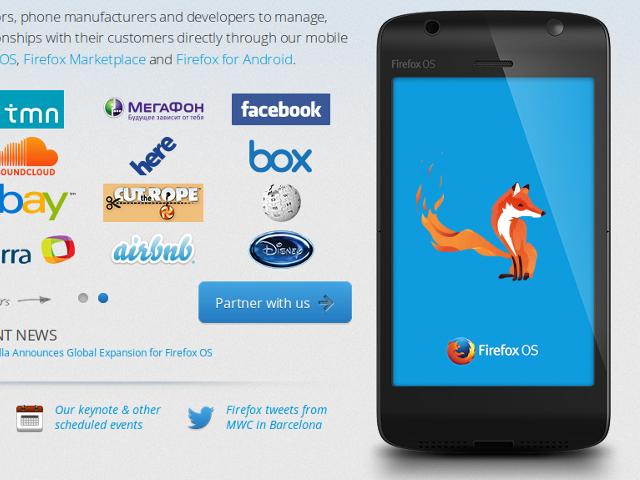 Sony supporte aussi Firefox OS