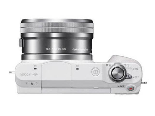 Sony NEX-3N : vue de la tranche supérieure