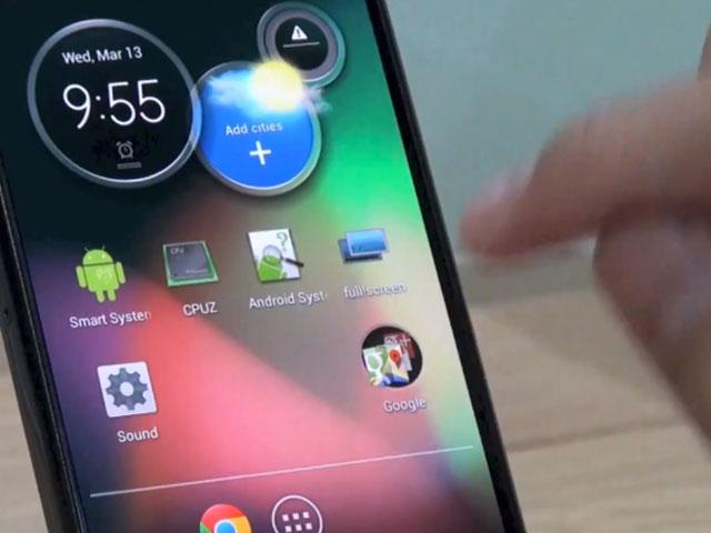 Motorola : une vue rapprochée de l'écran du mystérieux mobile