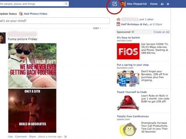 Un nouveau bouton pour Facebook