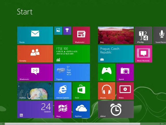 Windows Blue : nouvelles tailles de tuiles