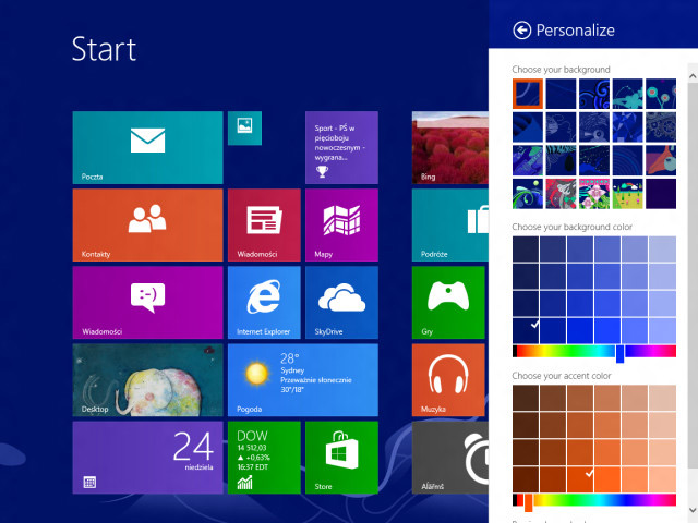 Windows Blue : nouvelles couleurs, nouveaux motifs
