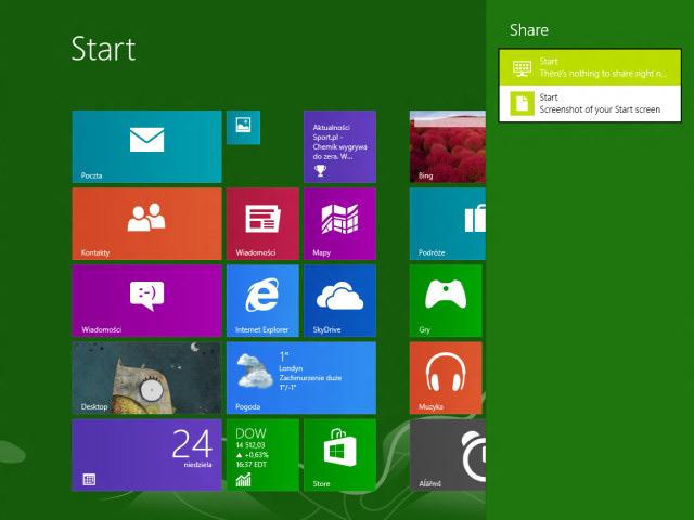 Windows Blue : partage de captures écran