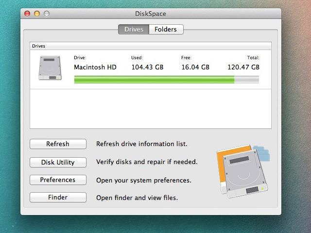 DiskSpace OS X