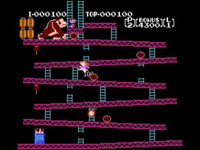 Donkey Kong avec Pauline comme héroïne
