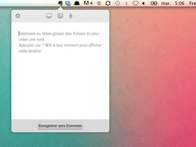 Evernote 5.0.6 OS X