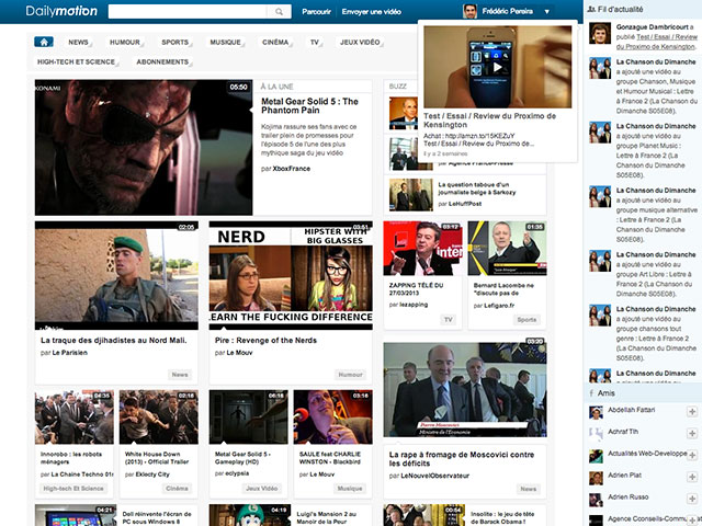 Dailymotion : intégration du fil d'actualités !