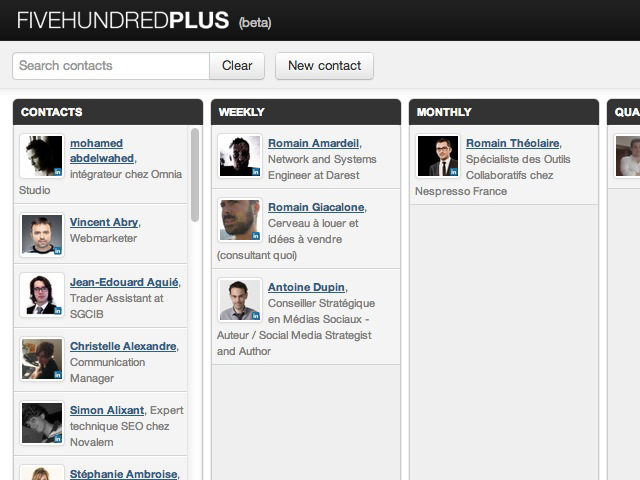 Five Hundred Plus : ne laissez pas vos contacts LinkedIn vous oublier