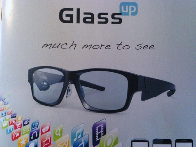 GlassUp : des lunettes connectées beaucoup moins chères