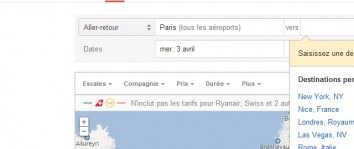 Google Flights est disponible en Europe