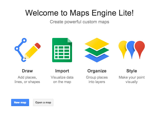 google maps engine lite cr er facilement ses cartes personnalis es. Black Bedroom Furniture Sets. Home Design Ideas