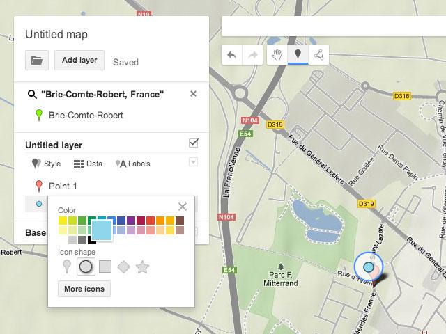 Google Maps Engine Lite : la personnalisation des repères