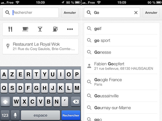 Nouvelle version pour Google Maps iOS