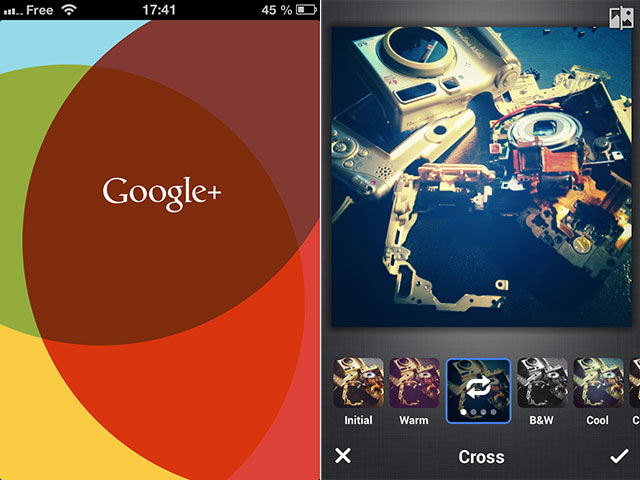 Google+ : MAJ sur iOS
