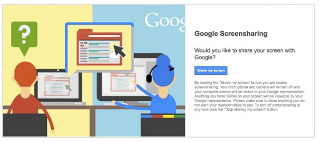 Google ScreenSharing