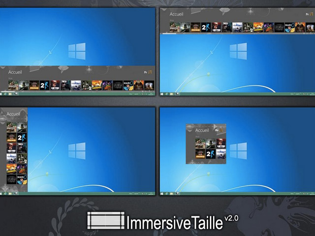 Intégrer l'écran d'accueil au bureau de Windows 8